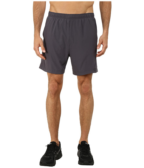 ASICS - 2-N-1 Woven Short 6 (Dark Grey) Men