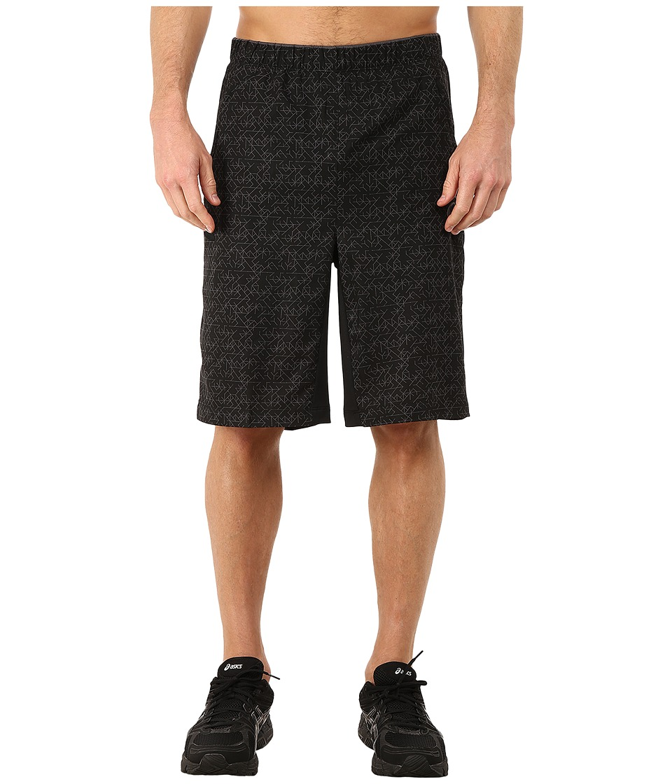 ASICS - Graphic Shorts 11 (Performance Black/Dark Grey/Maze Print) Men's Shorts