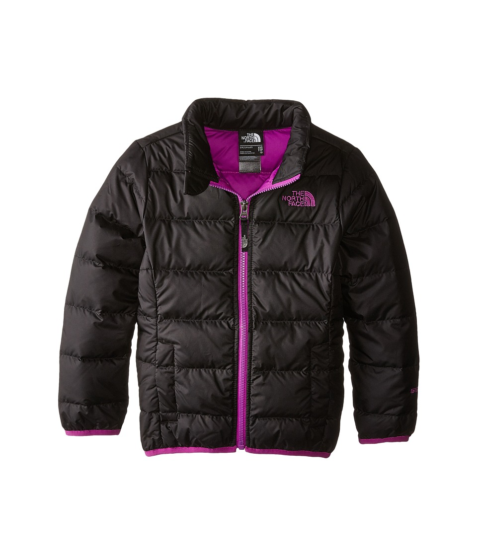 The North Face Kids - Andes Down Jacket (Little Kids/Big Kids) (TNF Black/Magic Magenta) Girl's Coat