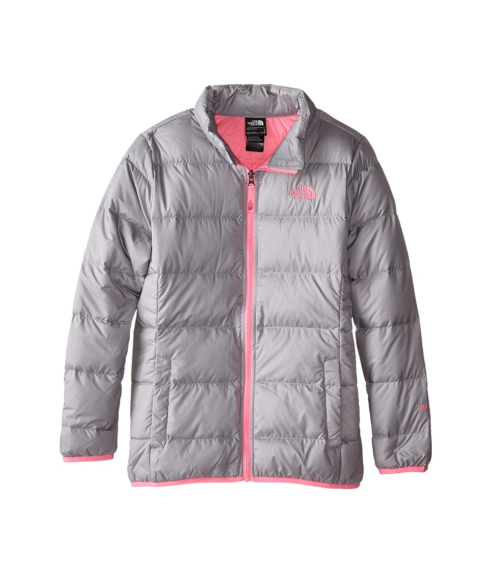 The North Face Kids Andes Down Jacket (Little Kids/Big Kids) (Metallic Silver/Gem Pink) Girl