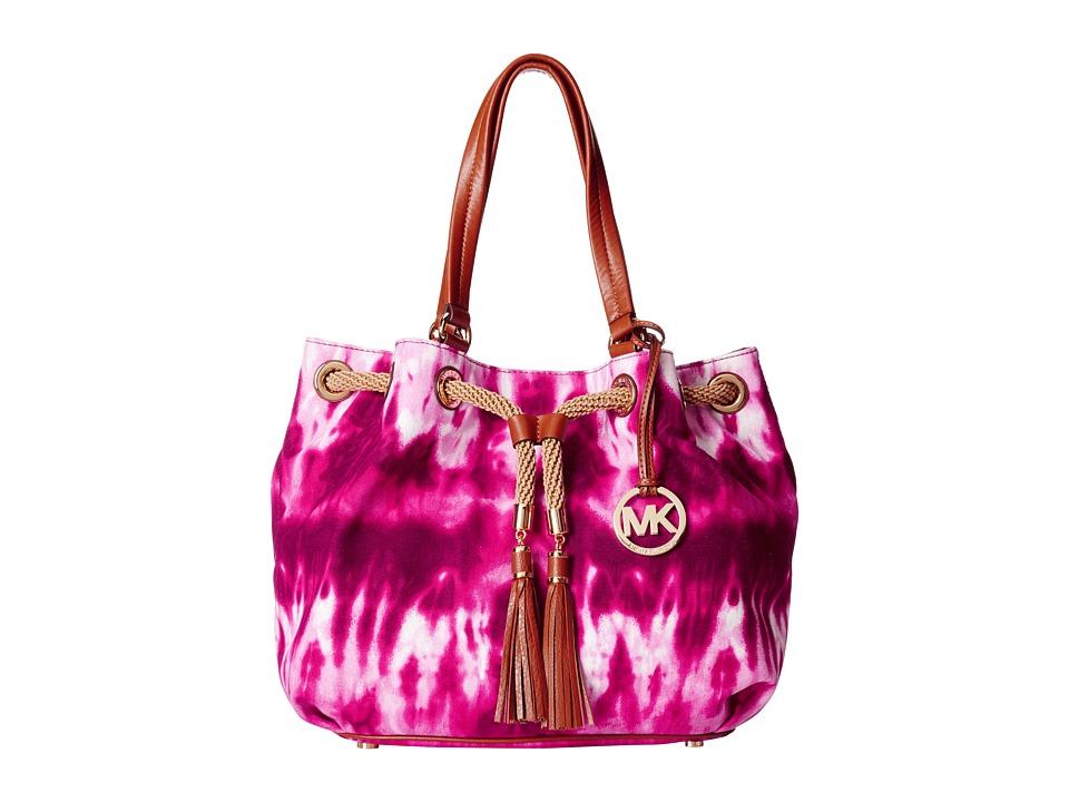 MICHAEL Michael Kors - Marina Large Gathered Tote (Fuchsia Tiedye) Tote Handbags