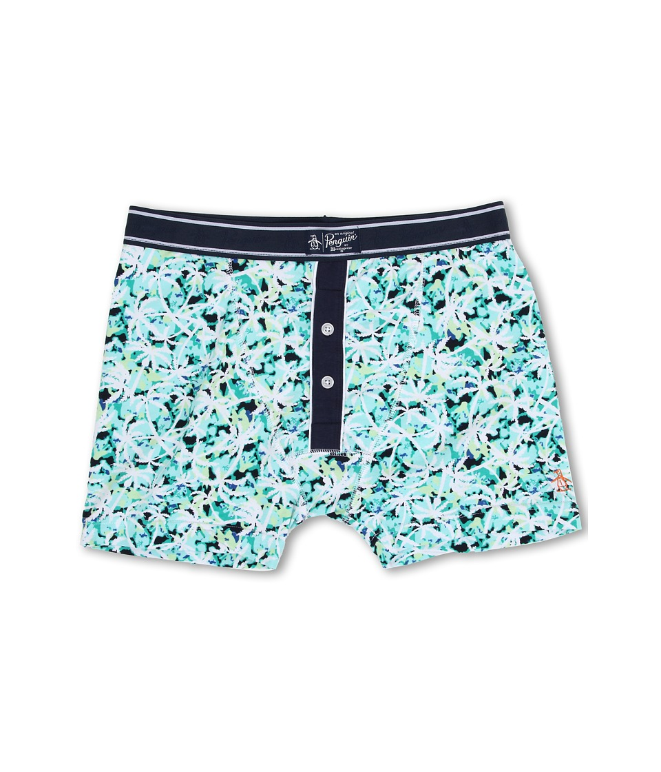 Original Penguin - Fashion Earl Boxer Brief (Green Palm) Men