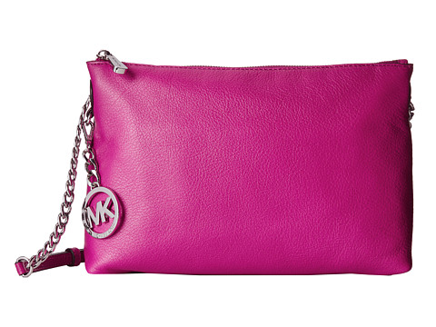 MICHAEL Michael Kors - Jet Set Chain Item Top-Zip Messenger (Fuchsia) Messenger Bags