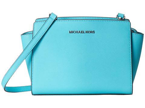 MICHAEL Michael Kors - Selma Medium Messenger (Aquamarine) Cross Body Handbags