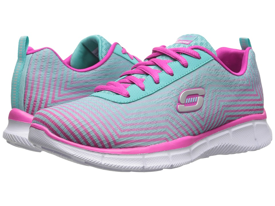 SKECHERS KIDS - Equalizer - Expect Miracles 81794L (Little Kid/Big Kid) (Light Blue/Pink) Girl