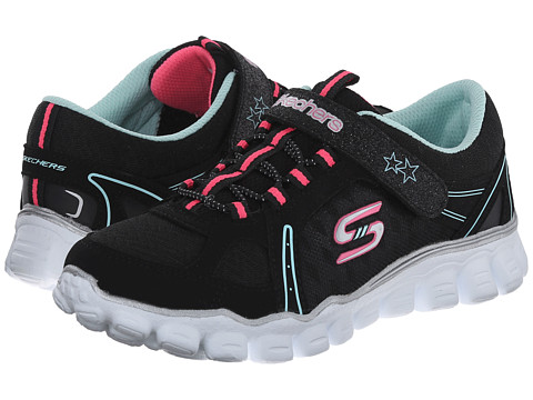 SKECHERS KIDS - Skech Flex II - Right On 81234L (Little Kid/Big Kid) (Black/Multi) Girl