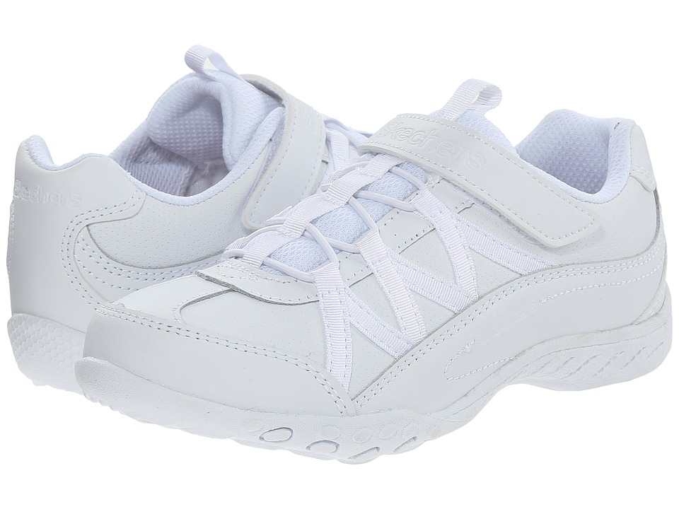 SKECHERS KIDS - Breathe - Easy 82298L (Little Kid/Big Kid) (White) Girl's Shoes