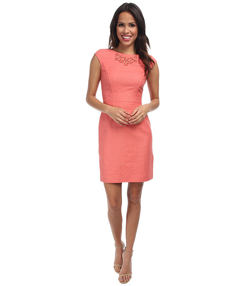 Tahari by ASL - Tracey - P Dress (Coral) Women