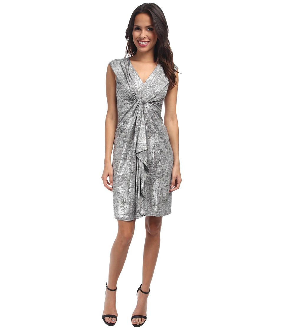 Tahari by ASL - Paula - L Dress (Grey/Silver) Women's Dress