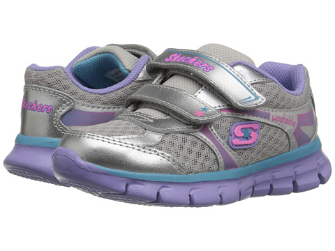 SKECHERS KIDS - Synergy - Lil Softy 80867N (Toddler/Little Kid) (Silver/Multi) Girl's Shoes