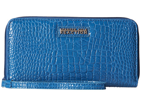 Kenneth Cole Reaction - Call Me Later - PDA Elongated Wristlet (Delft Blue) Wristlet Handbags