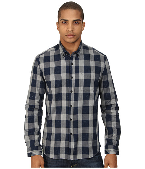 7 Diamonds - Hi Five Long Sleeve Shirt (Navy) Men's Long Sleeve Button Up