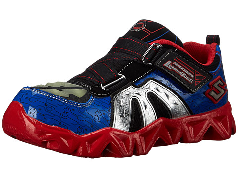 SKECHERS KIDS - Datarox 90460L Lights (Little Kid) (Blue/Red) Boys Shoes