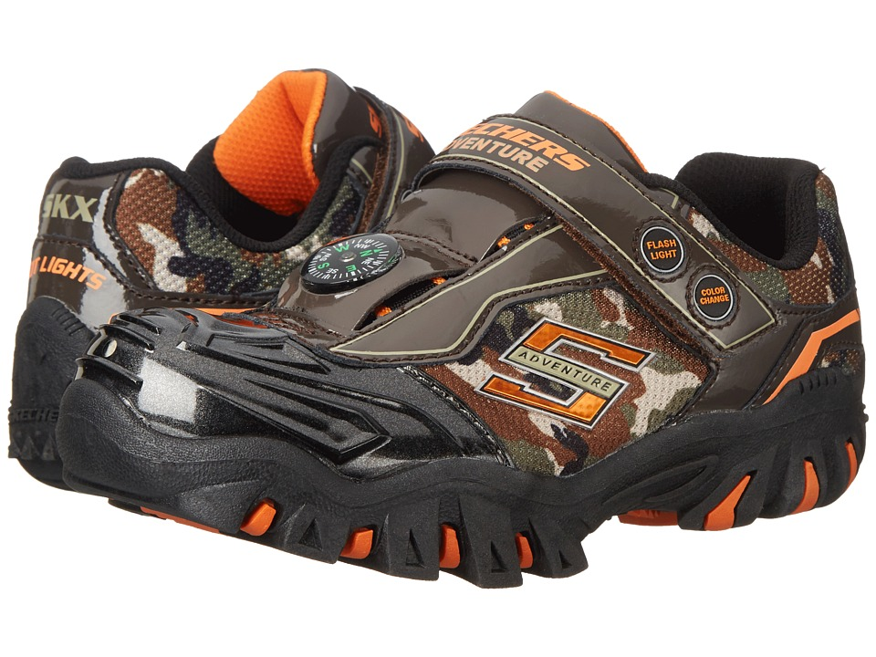 SKECHERS KIDS - Damager II - Adventurer 90490L Lights (Little Kid) (Camo) Boys Shoes