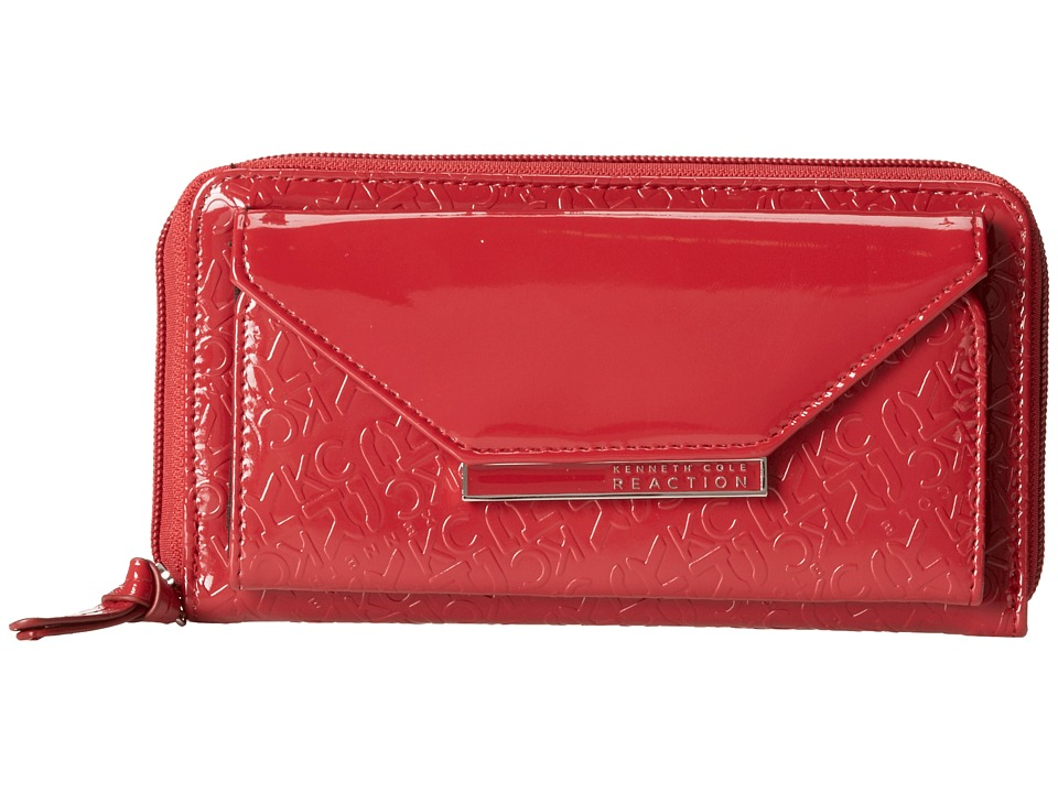 Kenneth Cole Reaction - Urban Organizer - Zip Around Flap Clutch w/ PDA Pocket (Red) Clutch Handbags