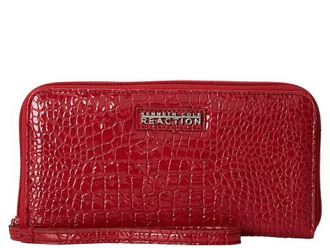 Kenneth Cole Reaction - Call Me Later - PDA Elongated Wristlet (Garnet Red) Wristlet Handbags