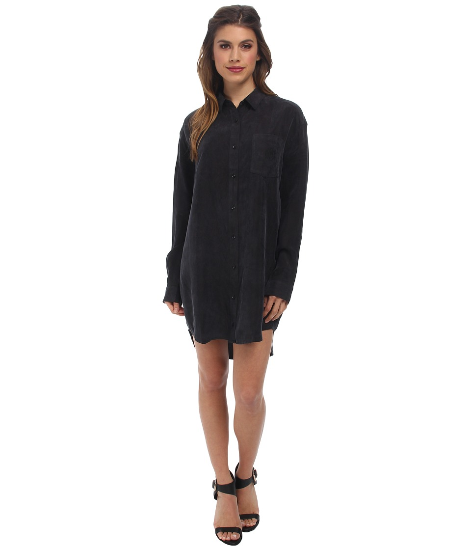 Obey - Risky Business Shirtdress (Black) Women's Dress