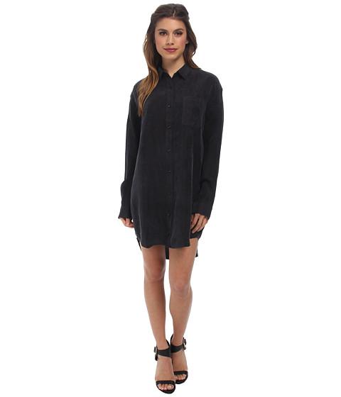 Obey - Risky Business Shirtdress (Black) Women's Dress