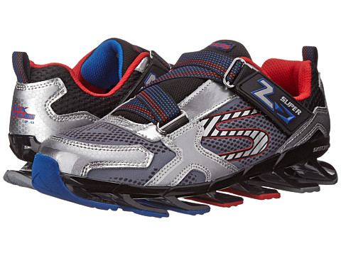SKECHERS KIDS - Mega Blade 2.0 95570L (Little Kid/Big Kid) (Silver/Black) Boy's Shoes