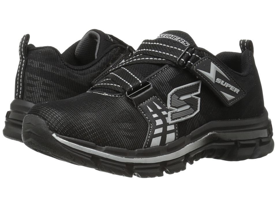 SKECHERS KIDS - Nitrate 95341L (Little Kid/Big Kid) (Black/Silver) Boy's Shoes