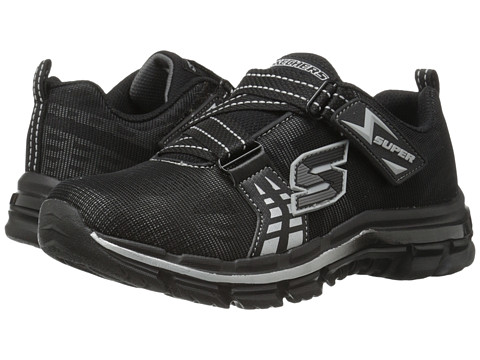 SKECHERS KIDS - Nitrate 95341L (Little Kid/Big Kid) (Black/Silver) Boy's Shoes