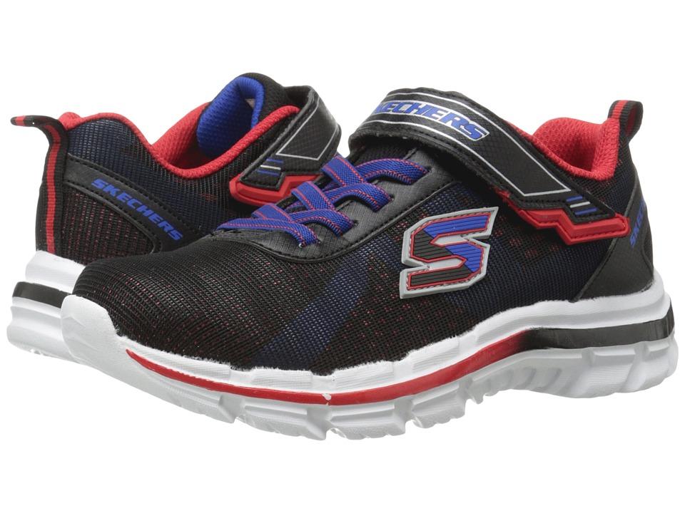 SKECHERS KIDS - Nitrate 95342L (Little Kid/Big Kid) (Black/Red/Blue) Boy's Shoes
