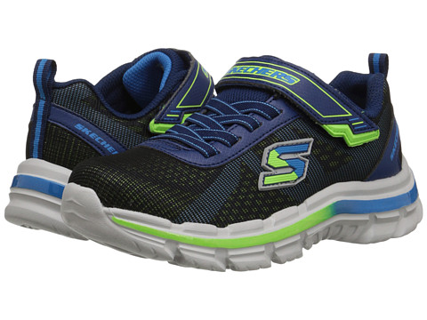 SKECHERS KIDS - Nitrate 95342L (Little Kid/Big Kid) (Navy/Blue) Boy's Shoes