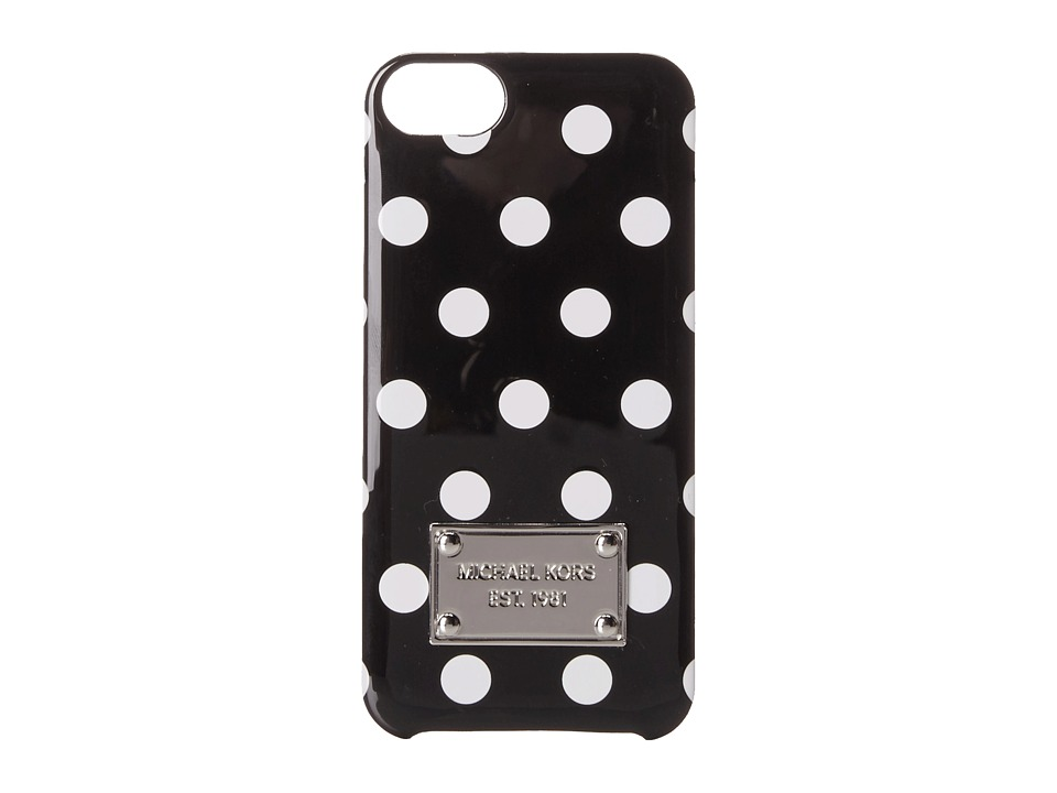 MICHAEL Michael Kors - Electronics Phone Cover (Black/Optic White) Cell Phone Case