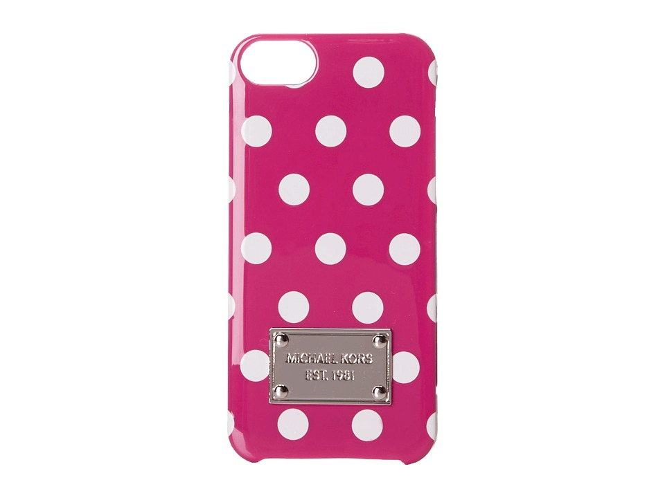 MICHAEL Michael Kors - Electronics Phone Cover (Fuchsia/Optic White) Cell Phone Case