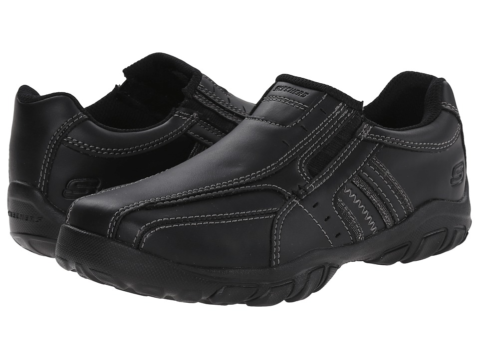 SKECHERS KIDS - Grambler - Wallace 96311L (Little Kid/Big Kid) (Black) Boy's Shoes