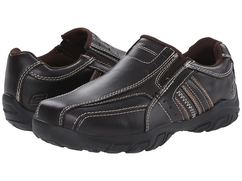SKECHERS KIDS - Grambler - Wallace 96311L (Little Kid/Big Kid) (Dark Brown) Boy's Shoes