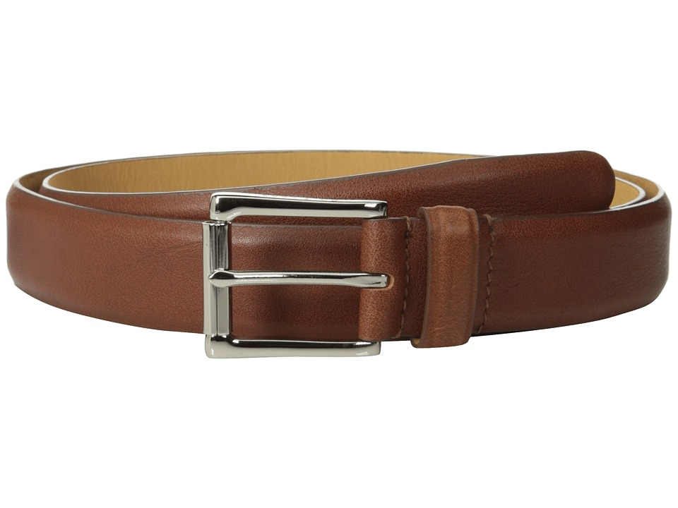 Cole Haan - 32mm Burnished Edge Mill Egyptian Cow Belt (Tan) Men's Belts