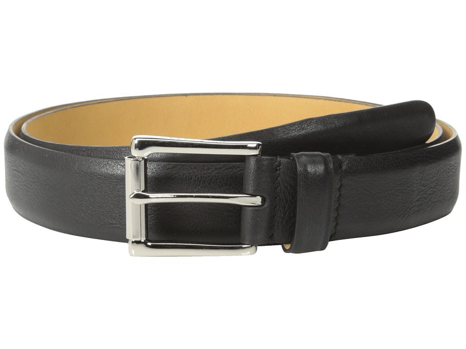 Cole Haan - 32mm Burnished Edge Mill Egyptian Cow Belt (Black) Men's Belts