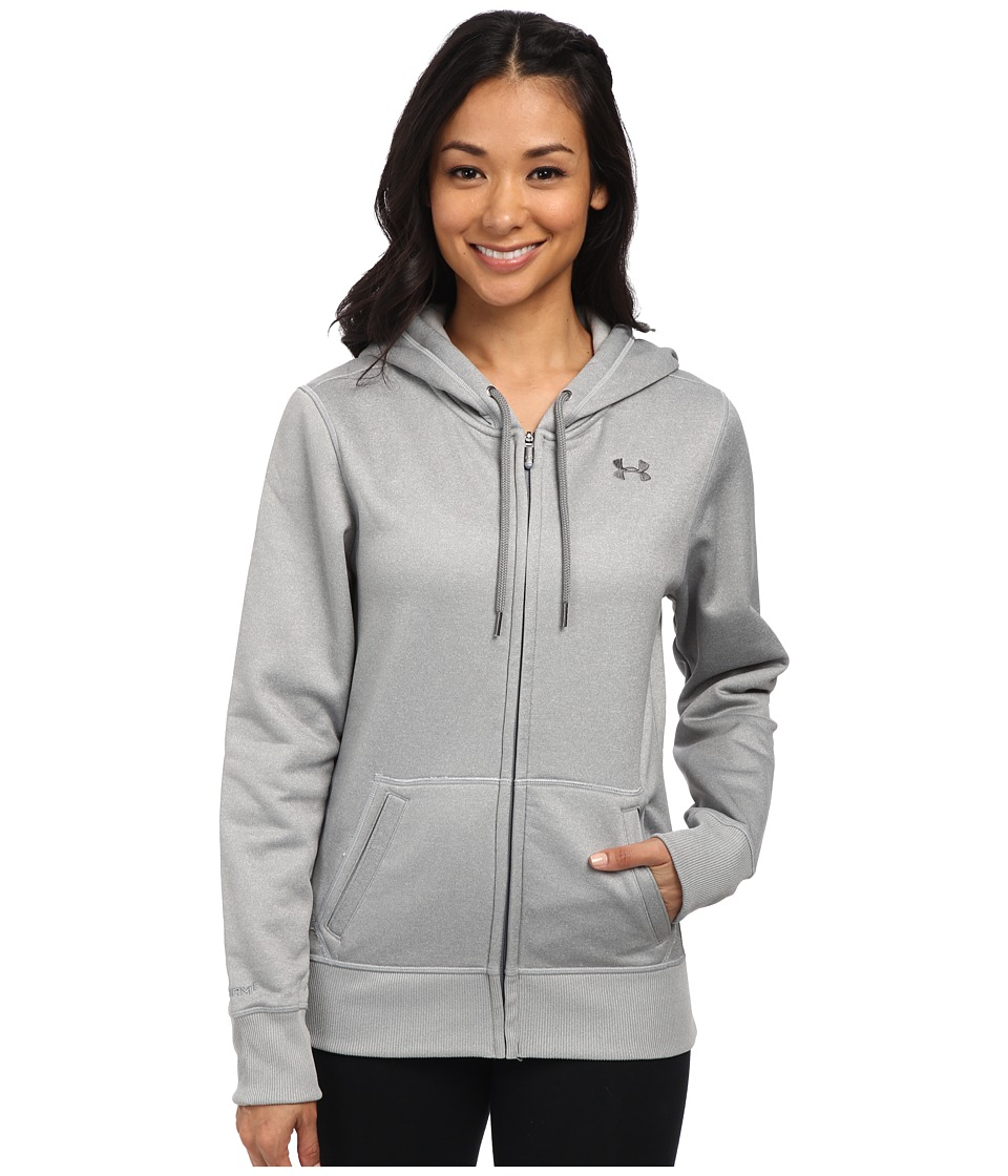 Under Armour - UA Storm Armour(r) Fleece Full-Zip Hoodie (True Gray Heather/True Gray Heather) Women's Sweatshirt