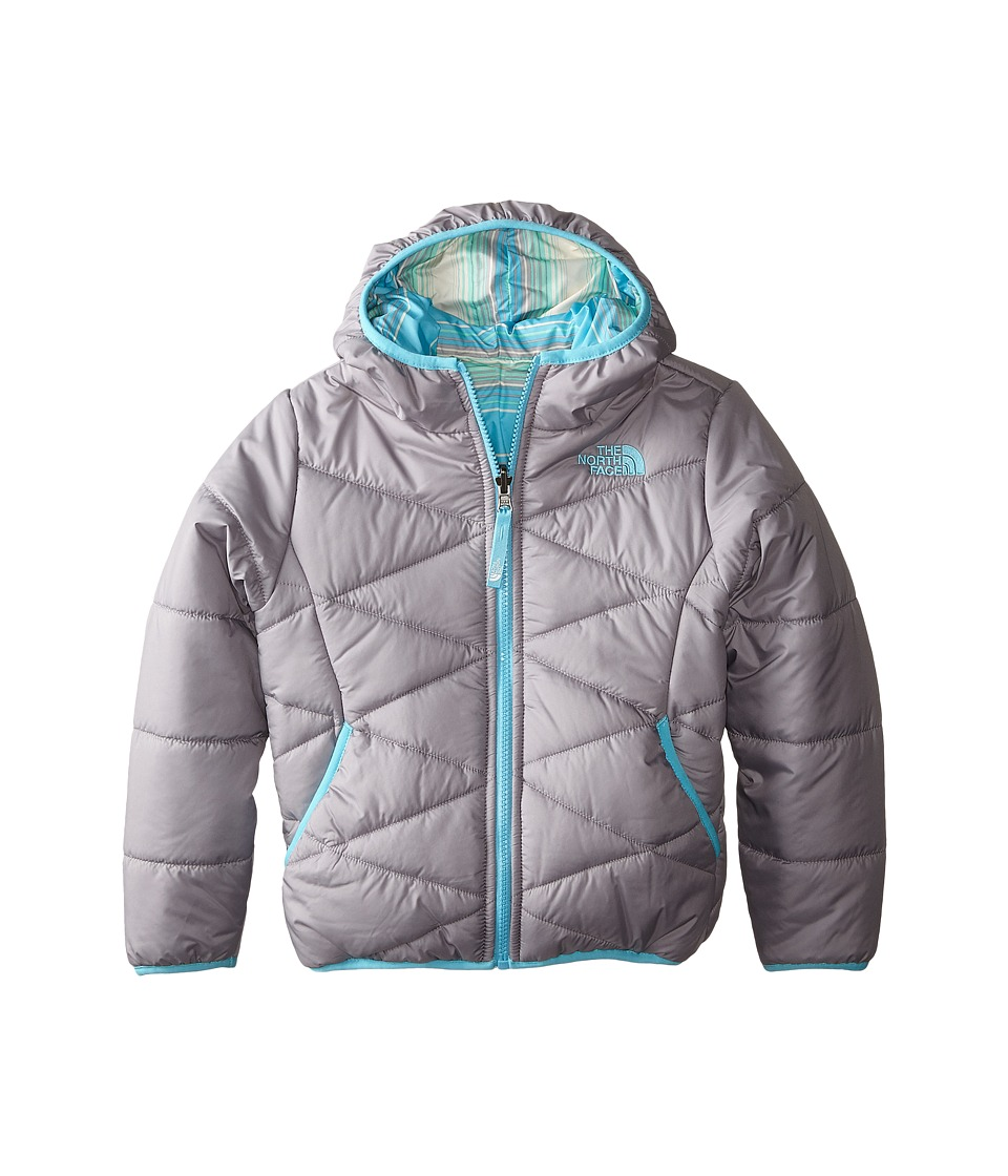The North Face Kids - Reversible Perrito Jacket (Little Kids/Big Kids) (Metallic Silver) Girl's Coat