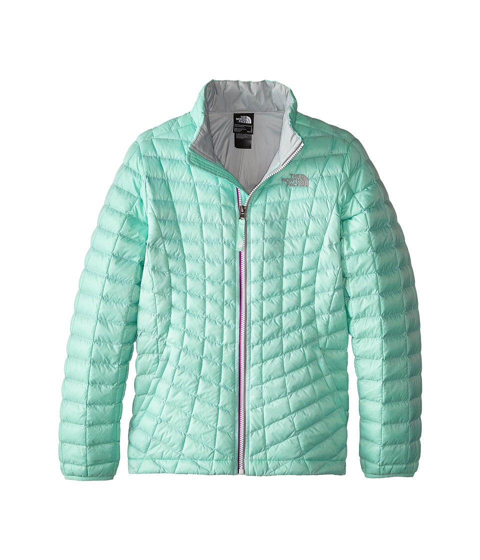 The North Face Kids Thermoballtm Full Zip Jacket (Little Kids/Big Kids) (Surf Green) Girl