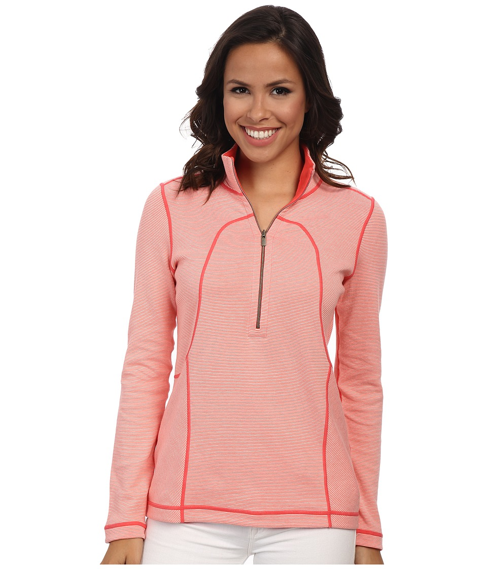 Tommy Bahama - Lighthouse 1/2 Zip Top (Coral Bluff/Bright Coral) Women's Sweatshirt