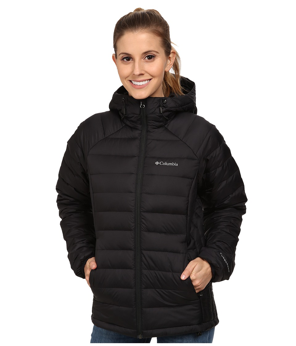 Columbia - Platinum Plus 860 TurboDown Hooded Jacket (Black) Women's Coat