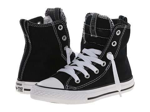 Converse Kids - Chuck Taylor All Star Slip It Hi (Little Kid/Big Kid) (Black/Thunder/White) Boys Shoes