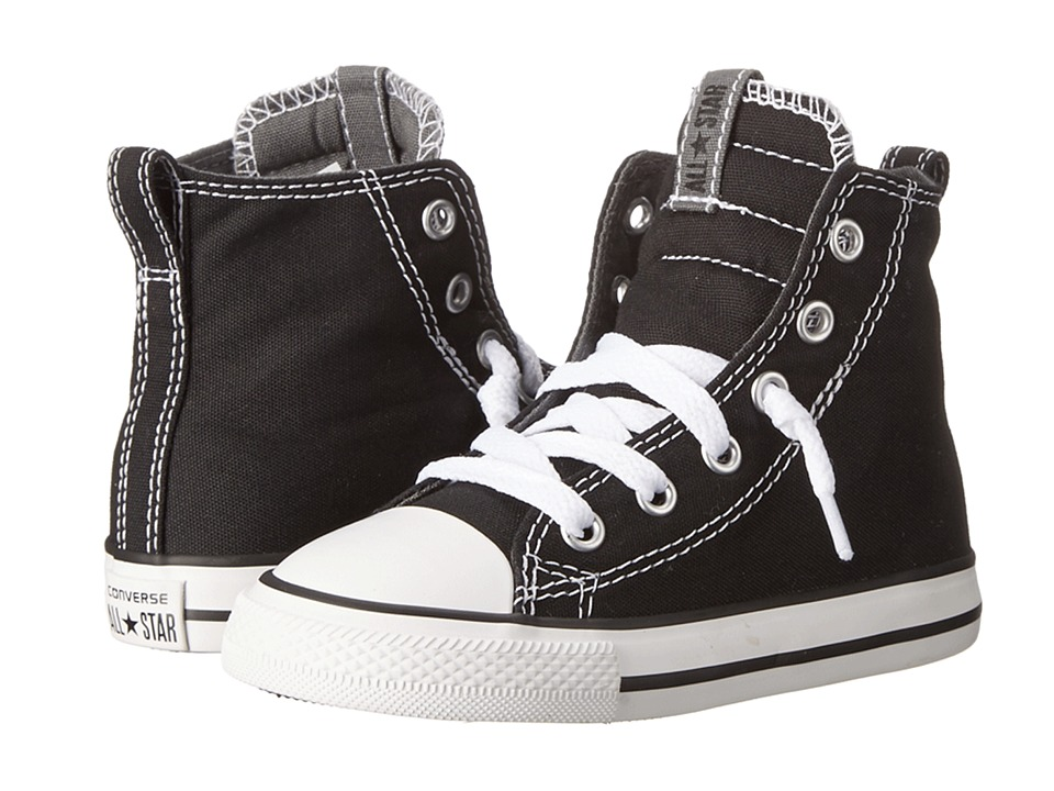 Converse Kids - Chuck Taylor All Star Slip It Hi (Infant/Toddler) (Black/Thunder/White) Boys Shoes