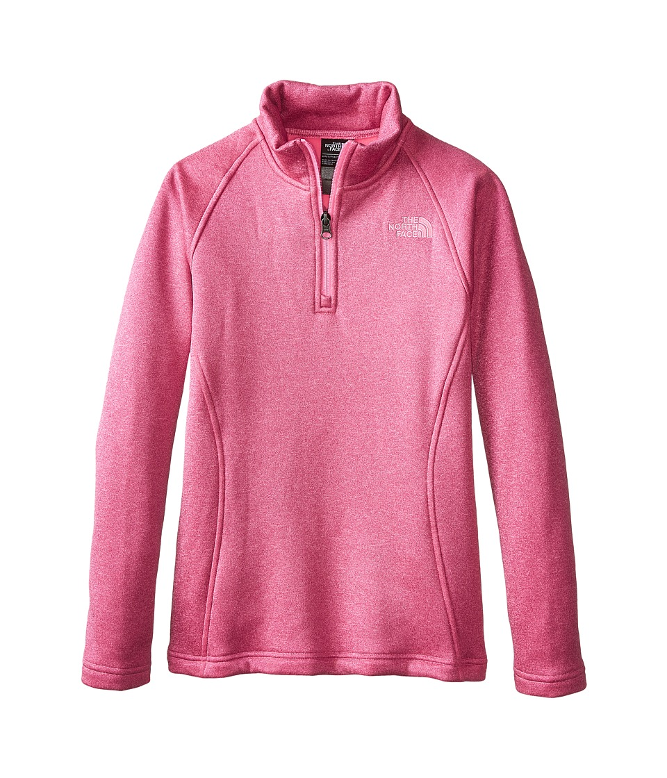 The North Face Kids - HW Agave 1/4 Zip (Little Kids/Big Kids) (Luminous Pink) Girl's Long Sleeve Pullover