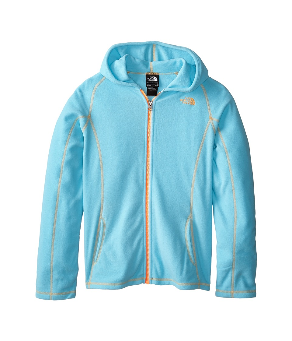 The North Face Kids - Glacier Full Zip Hoodie (Little Kids/Big Kids) (Fortuna Blue) Girl's Sweatshirt