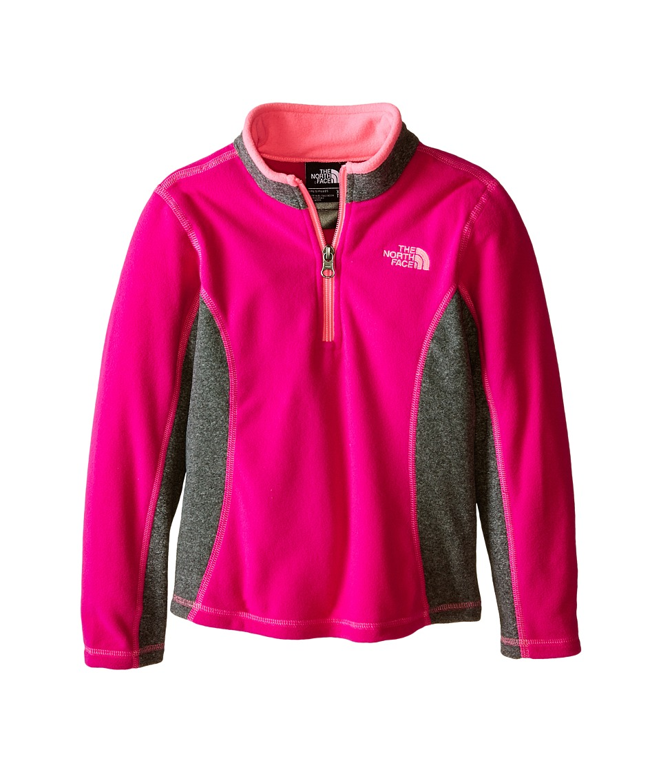 The North Face Kids - Glacier 1/4 Zip (Little Kids/Big Kids) (Luminous Pink) Girl's Coat