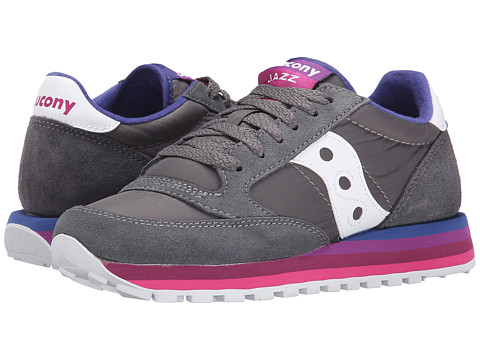 Saucony Originals - Jazz O Rainbow (Charcoal/Purple) Women's Classic Shoes