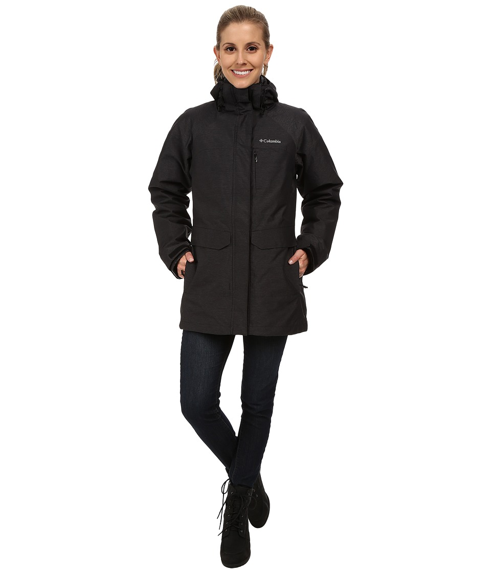 Columbia - Mystic Pines Long Interchange Jacket (Black Crossdye) Women's Coat