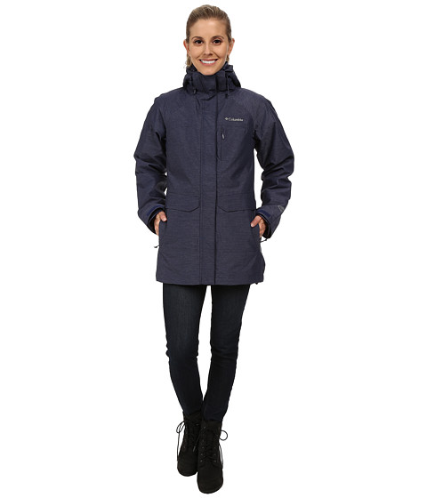 Columbia - Mystic Pines Long Interchange Jacket (Nocturnal Crossdye) Women's Coat