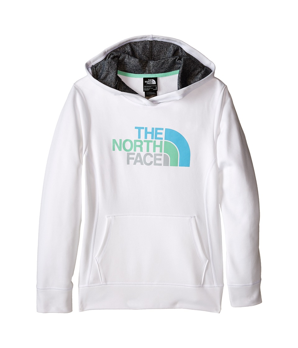 The North Face Kids - Girls' Surgent Pullover Logo Hoodie (Little Kids/Big Kids) (TNF White) Girl's Long Sleeve Pullover