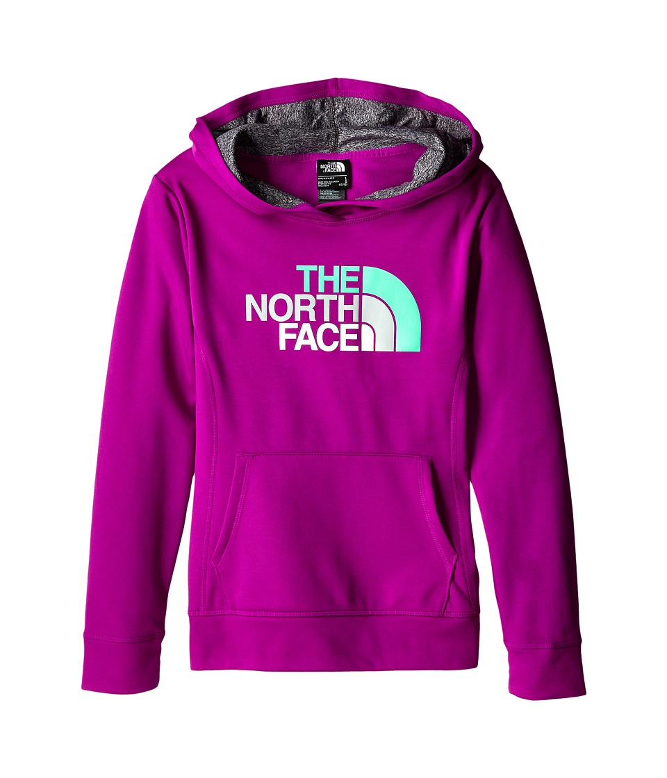 The North Face Kids - Girls' Surgent Pullover Logo Hoodie (Little Kids/Big Kids) (Magic Magenta) Girl's Long Sleeve Pullover