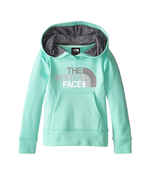 The North Face Kids - Girls' Surgent Pullover Logo Hoodie (Little Kids/Big Kids) (Surf Green) Girl's Long Sleeve Pullover