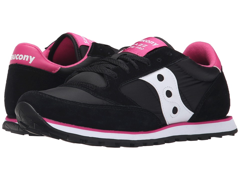 Saucony Originals - Jazz Low Pro (Black/Pink) Women's Classic Shoes